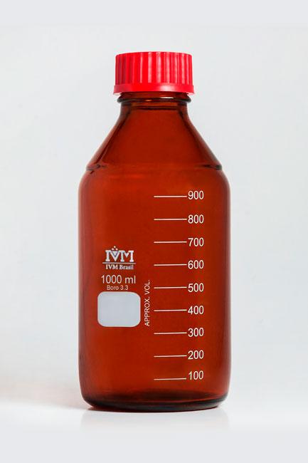 Frasco reagente âmbar